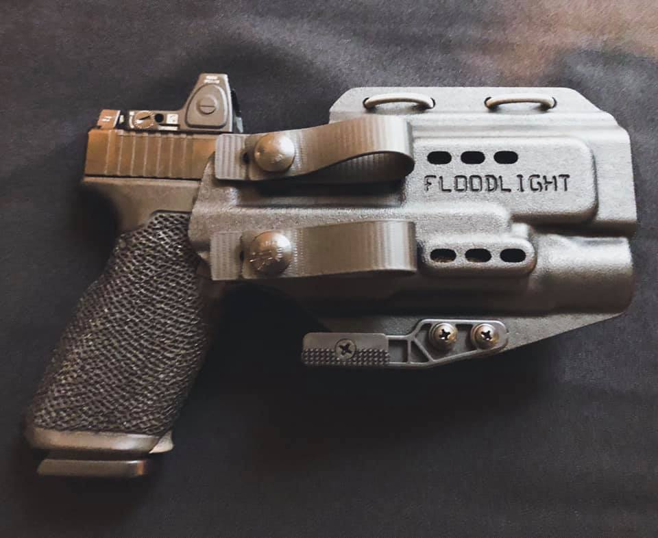 The PHLster Floodlight AIWB holster (appendix carry holster) as used by Scott Jedlinski.