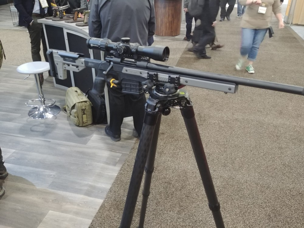 The Oryx rifle chassis from Modular Driven Technologies (MDT).