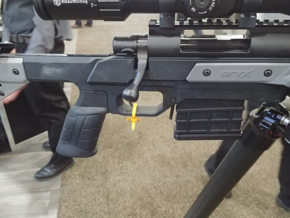 MDT chassis: the Oryx rifle chassis on display at SHOT Show 2019.
