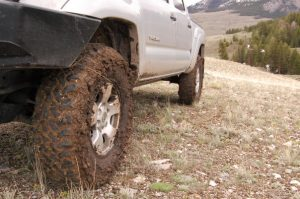 Dirty tires from overlanding