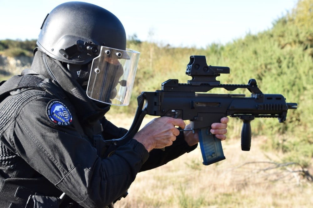 Riot and ballistic face shields are essential for law enforcement officers
