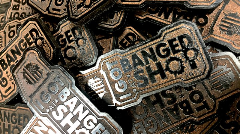 Getting Banged at SHOT Show - patches by Mean Gene Leather aka House Gene