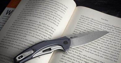 The Kershaw 7777 Bareknuckle - we want one just because of the name.