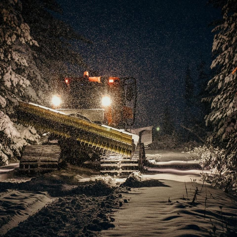 Lightforce USA Striker lights on the job - working in a blizzard.