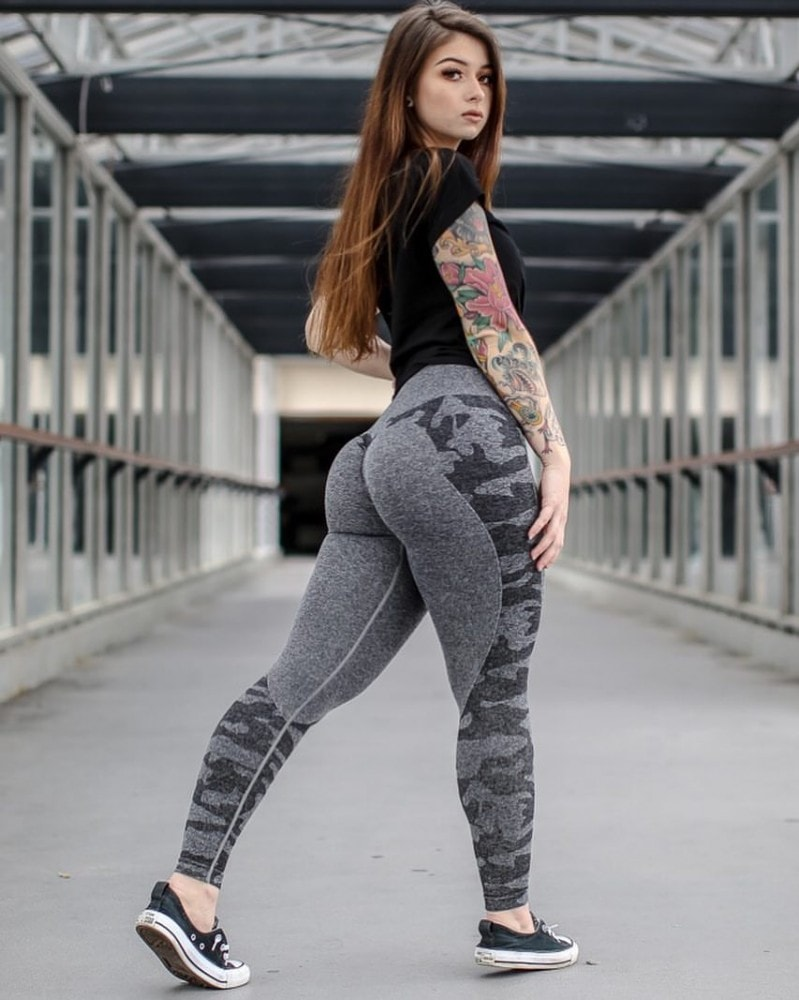 Curves and Combat Boots workout leggings