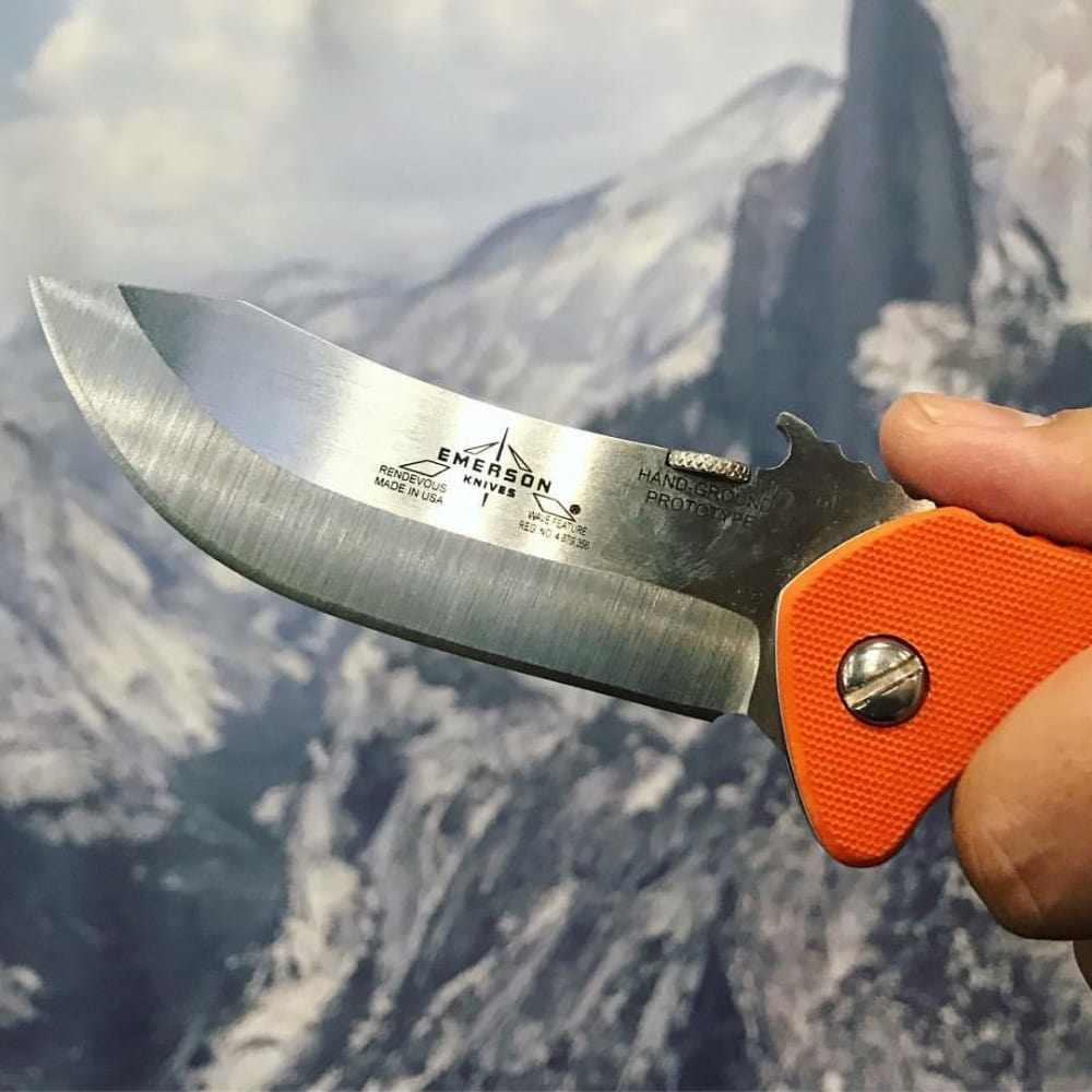 Among the Emerson Knives at SHOT Show 2019 were the Emerson Appalachian, Overland Renegade, Emerson Rendezvous, Emerson Market Skinner, and Emerson Huck.