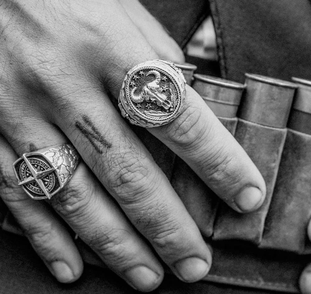 Man Jewelry - Badlands ring by Clocks and Colours