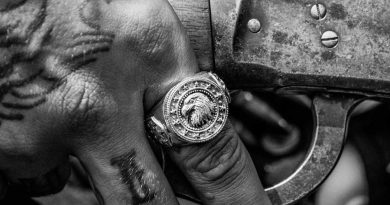 Man Jewelry - freedom eagle ring by Clocks and Colours