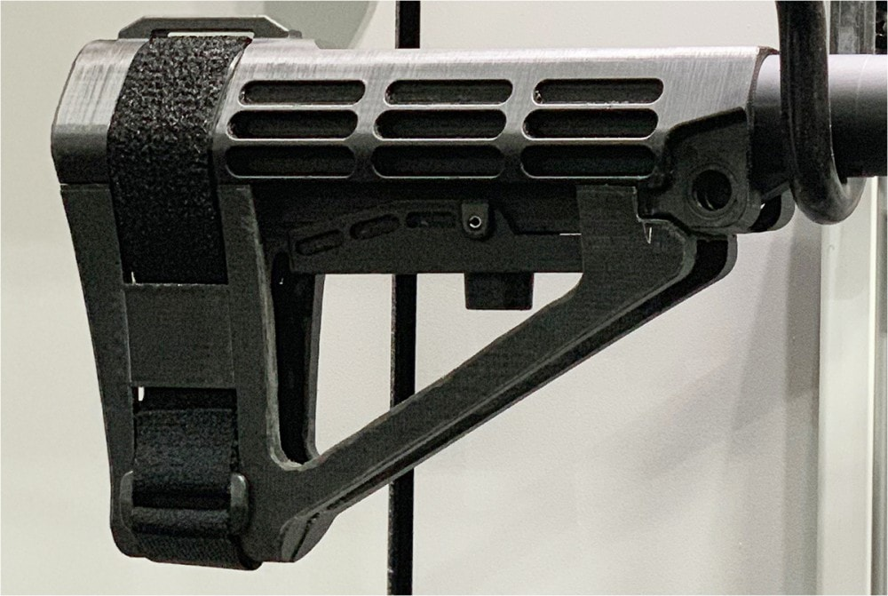 SBA4 Brace: 5-position adjustable stabilizing pistol brace
