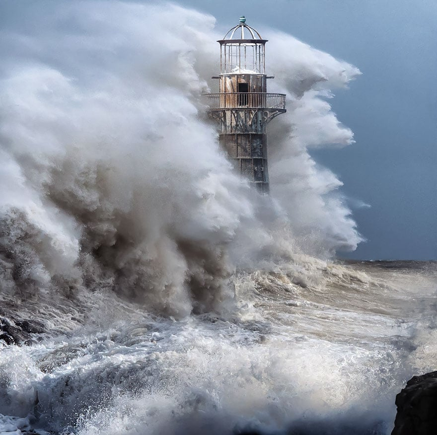 A lighthouse in Whiteford, UK by Matthew Jones.