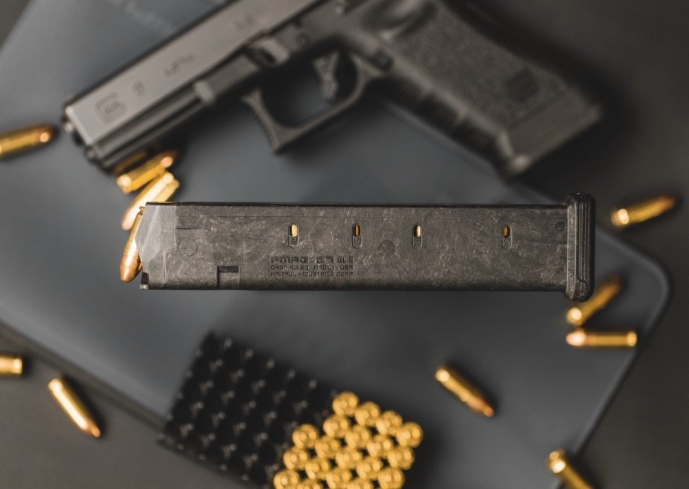 The Magpul PMAG 27 GL9. Note: this is not a Glock 27 magazine.