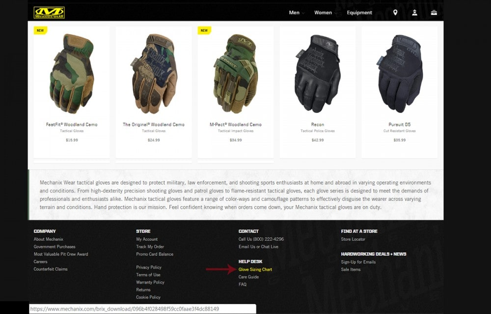 Mechanix Gloves Sizing