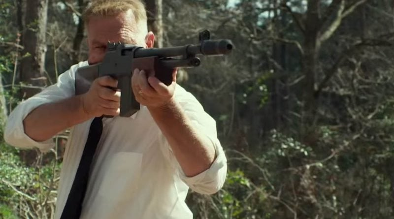 The Highwaymen - Kevin Costner as Frank Hamer with a Colt Monitor