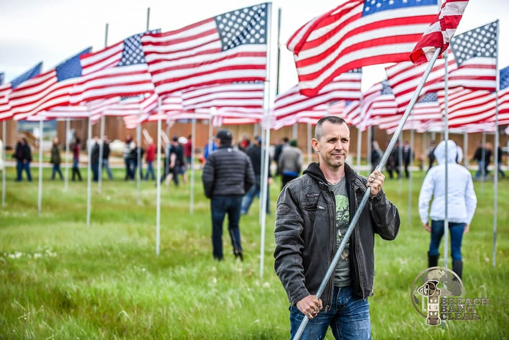 "Memorial Day Images: the Buffalo Chips Saloon ""Field of Flags"""