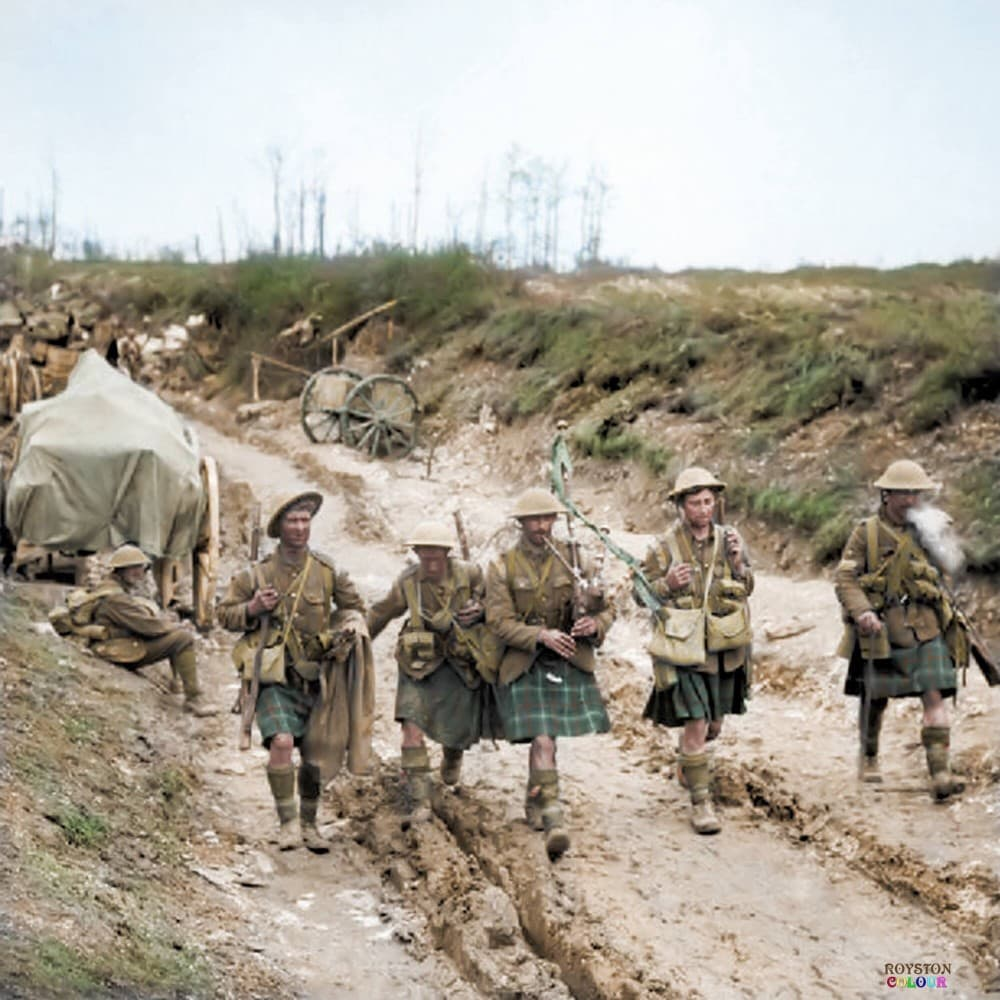 Infantry Highlanders WW1 colorized