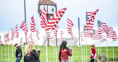 "Memorial Day Pics: the ""Field of Flags"" at Sturgis, courtesy of the Buffalo Chip"
