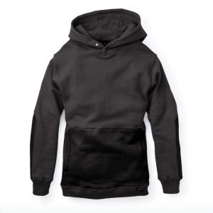 Black Hoodie with Cordura reinforced NYLON pocket.