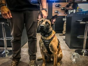 K9 officer with trainer