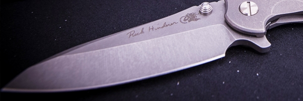Rick Hinderer Knives; Hinderer was just one of many custom knife makers at the Knife Invitational