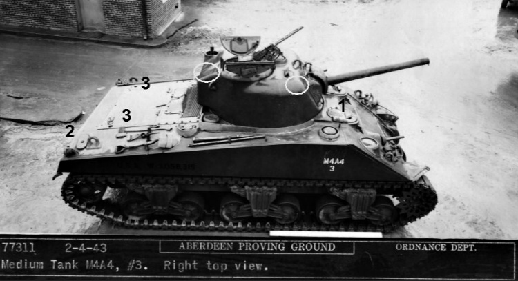 Black and White image of M4A4 Sherman Tank.