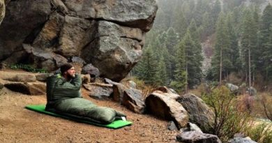 Sleeping Bag in the mountains