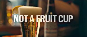 """If you're """"manning"""" right, your beer doesn't come in a fruit cup."""