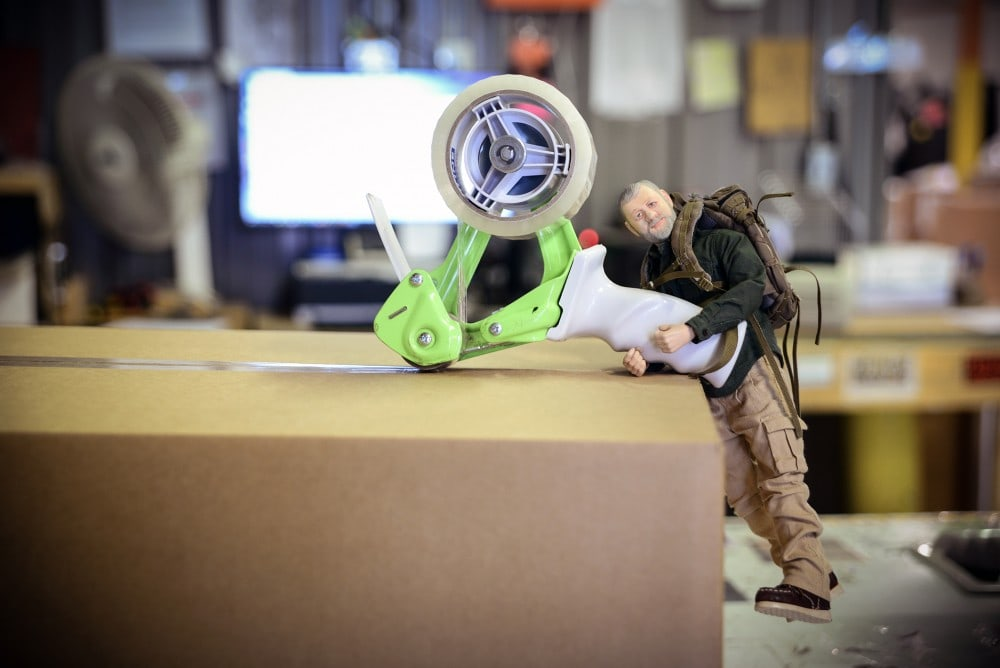 (Mini) Dana Gleason from Mystery Ranch sending the Mad Duo a package at Breach-Bang-Clear HQ.
