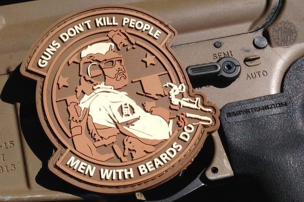 special forces beard morale patch