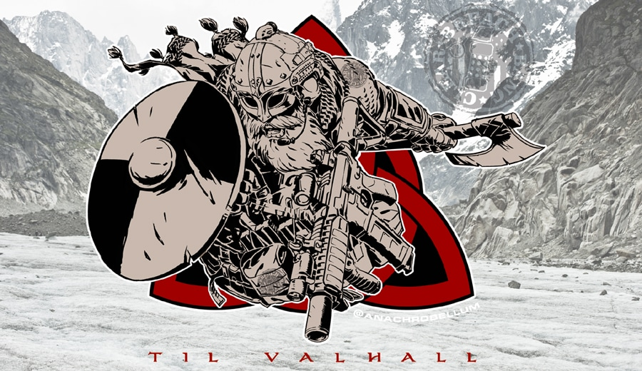 """Tactical Viking"" modern viking patch: Til Valhall!"