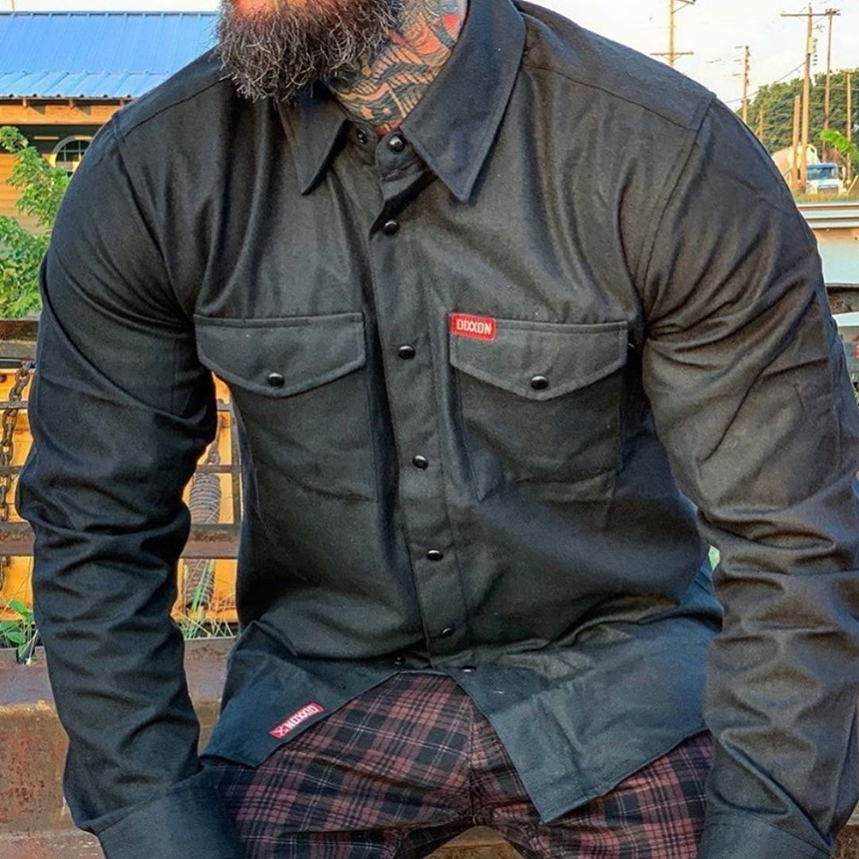 A tactical flannel from Dixxon Flannels