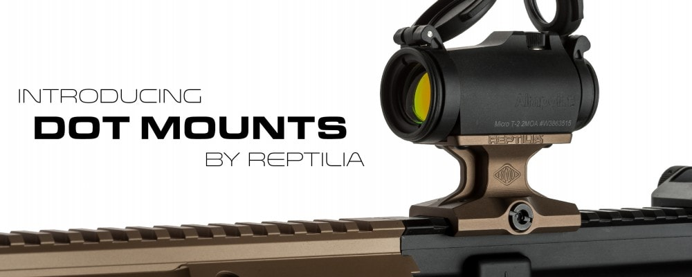 Red dot mount options from Reptilia Corp gun accessories
