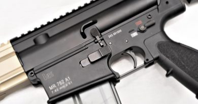 Kinetic Development Group Ambidextrous Magazine Release for HK 417 Variant Rifles.