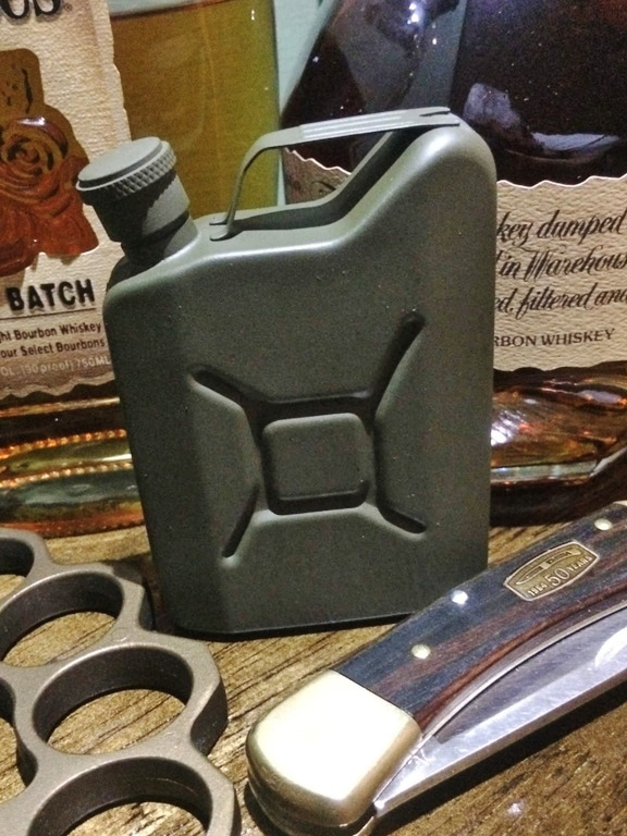 "Bad Moon Armory ""Uncle Jerry"" whiskey flask"