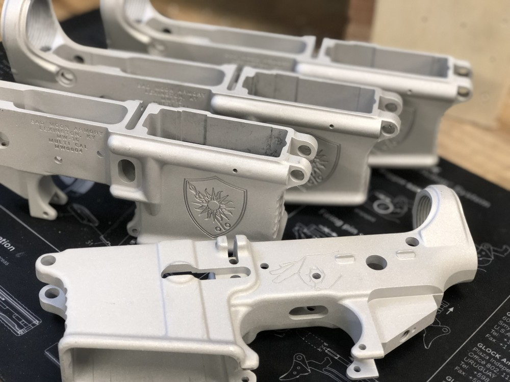 "Breach Bang Clear Patreon AR 15 lower receiver (""House Morningwood"")"