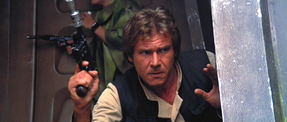 Guns of Star Wars - Han Solo is seen with his most iconic gun in Return of the Jedi, the DL 44.