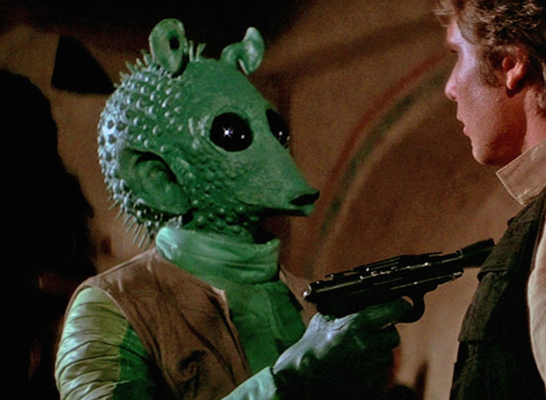 Guns of Star Wars - Regardless of if or when he fired Greedo carried a Blastech DT-12.