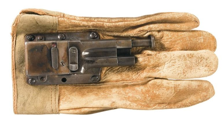 Spy Guns: If the glove fits you can use it to take out the enemy. (Collection of Rock Island Arsenal).