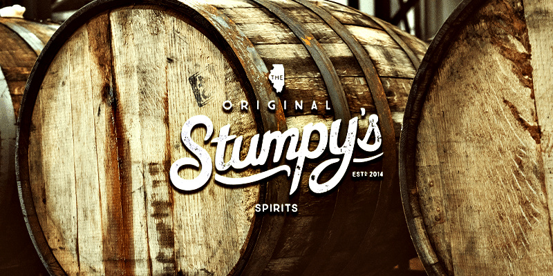 Stumpy's Old Monroe Bourbon is crafted from their signature blend of corn, winter wheat, and barley malt and aged in charred Missouri oak barrels.