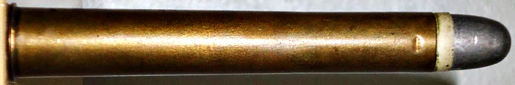 The .450 3¼-inch Black Powder Express cartridge was originally designed as an experimental military cartridge for the 1869 British Army Rifle trials that lead to the adoption of the Henry-Martini rifle. Image source: Gun Wiki.