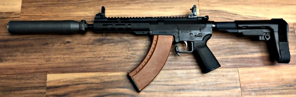 KS 47 with installed Dagger Defense aluminum sights. Used with 7.62 x 39mm.