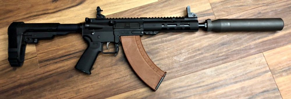 KS 47 with Sig Sauer suppressor. Use with 7.62 x 39.