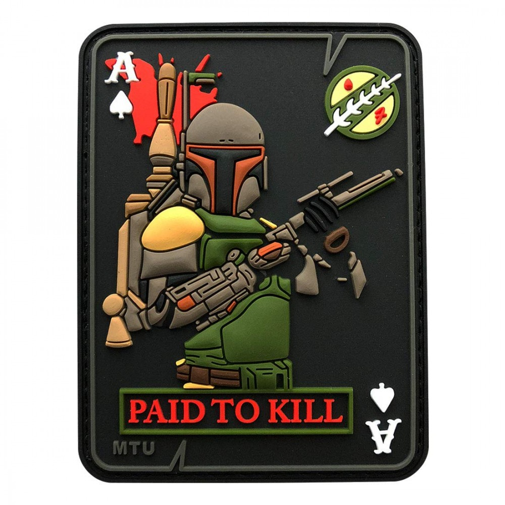 A Star Wars morale patch with Boba Fett.