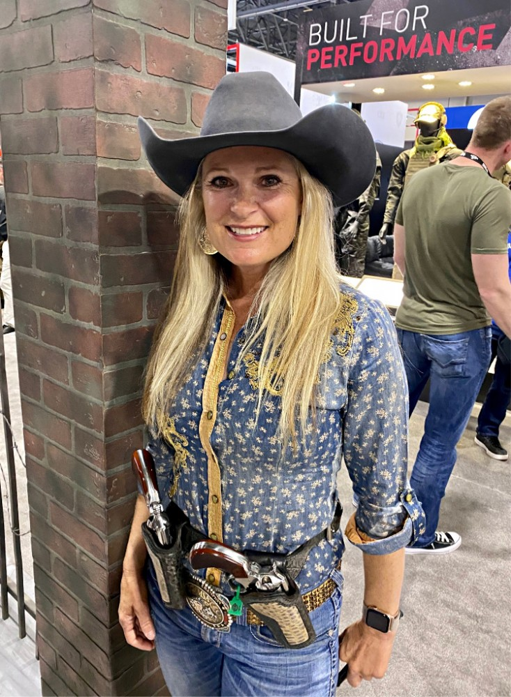 Real Women of SHOT - Kenda Lenseigne - Cowgirl Pro Mounted Shooter.