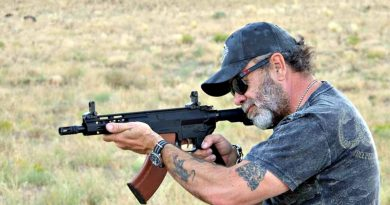 Mike Searson takes aim with the Palmetto State Armory KS 47.