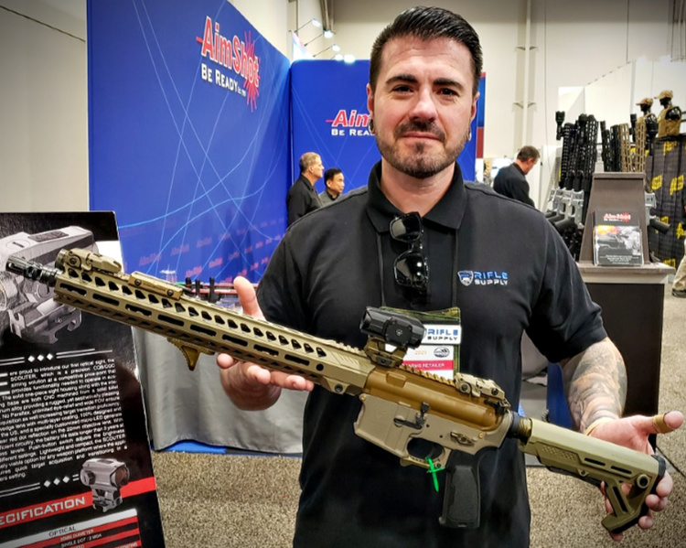 Justin from Rifle Supply with my Sentinel Elite Special Edition AR Rifle.