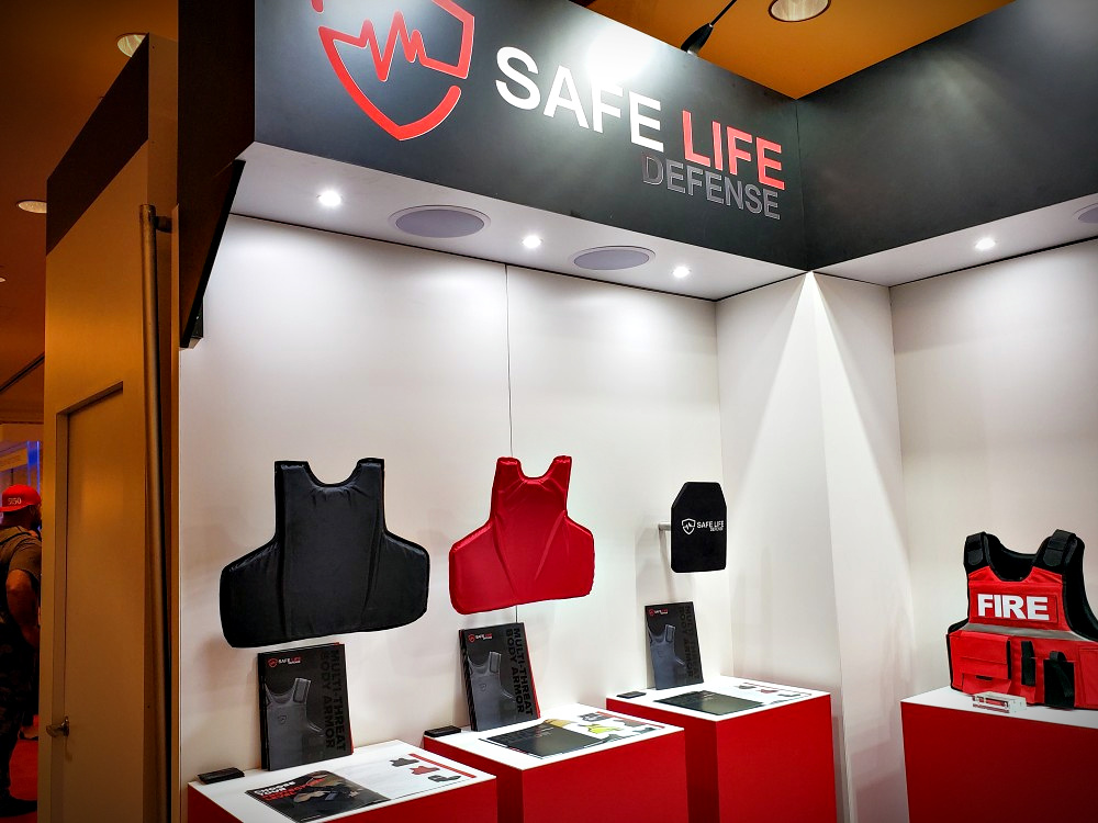 Traditional Ballistic Protection from Safe Life Defense - as seen at the SHOT Show 2020 booth.