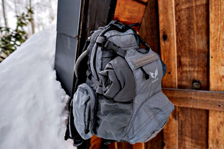 Yote Hydration Pack - three hydration/comms routing ports.