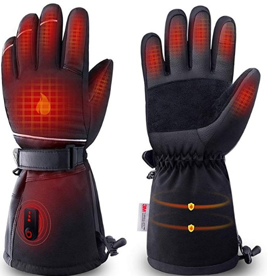 The main image of the ZEROFIRE heated gloves, showing off with effects what it can do.