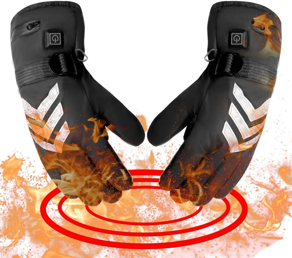 Image showing the romifly heated gloves with a fire effect because they are heated gloves.