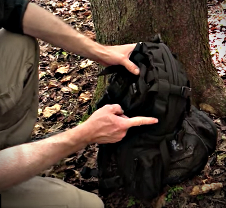 The Yote Hydration Pack features daisy-chain across the top so more gear can be attached to the pack.
